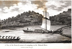 The Durham Boat was frequently used to transport goods.  It could be sailed, poled or oared.