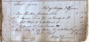 George Lyon's first seed order