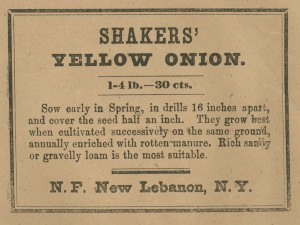 George Lyon purchased Shaker Seeds circa 1820 photo courtesy Hamilton College Library Digital Collection