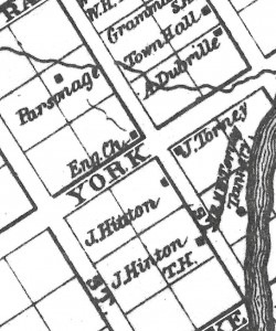 Location of the Torney Home and Tannery Walling Map1863